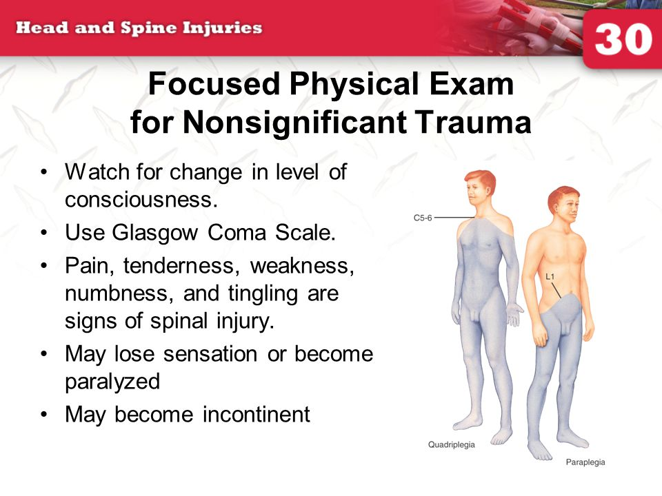 Focused Physical Exam for Nonsignificant Trauma