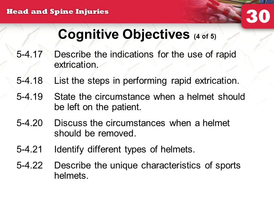 Cognitive Objectives (4 of 5)
