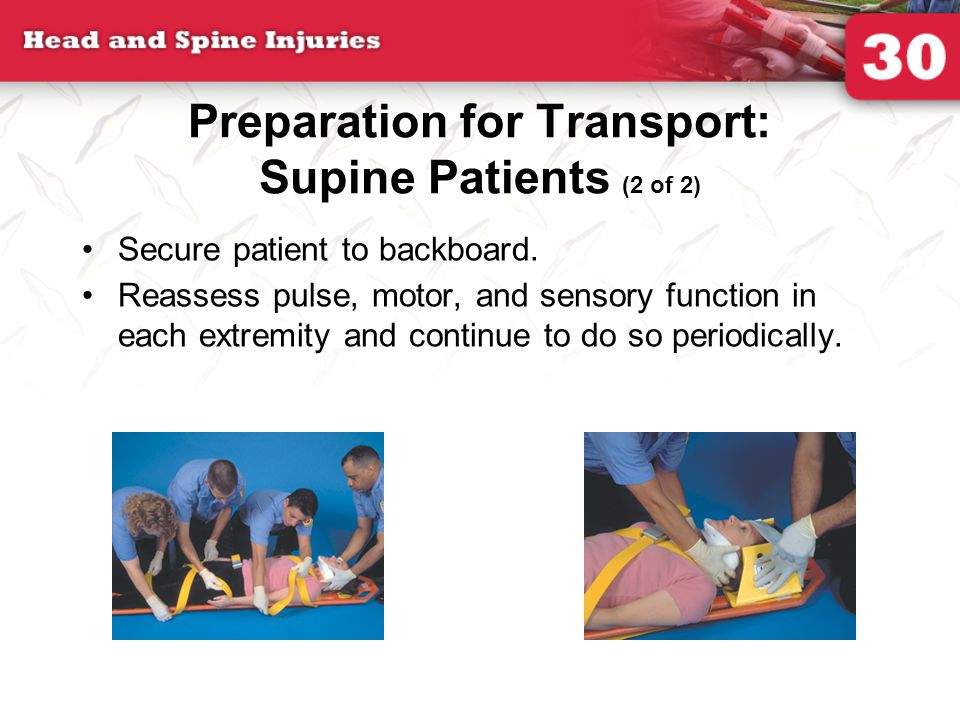 Preparation for Transport: Supine Patients (2 of 2)