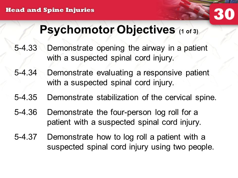 Psychomotor Objectives (1 of 3)