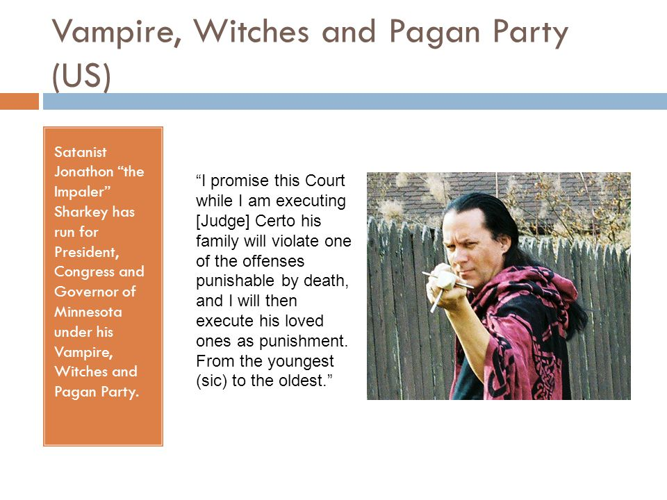 Vampire, Witches and Pagan Party (US)