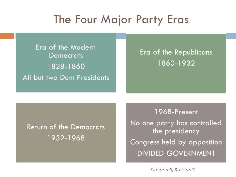 The Four Major Party Eras