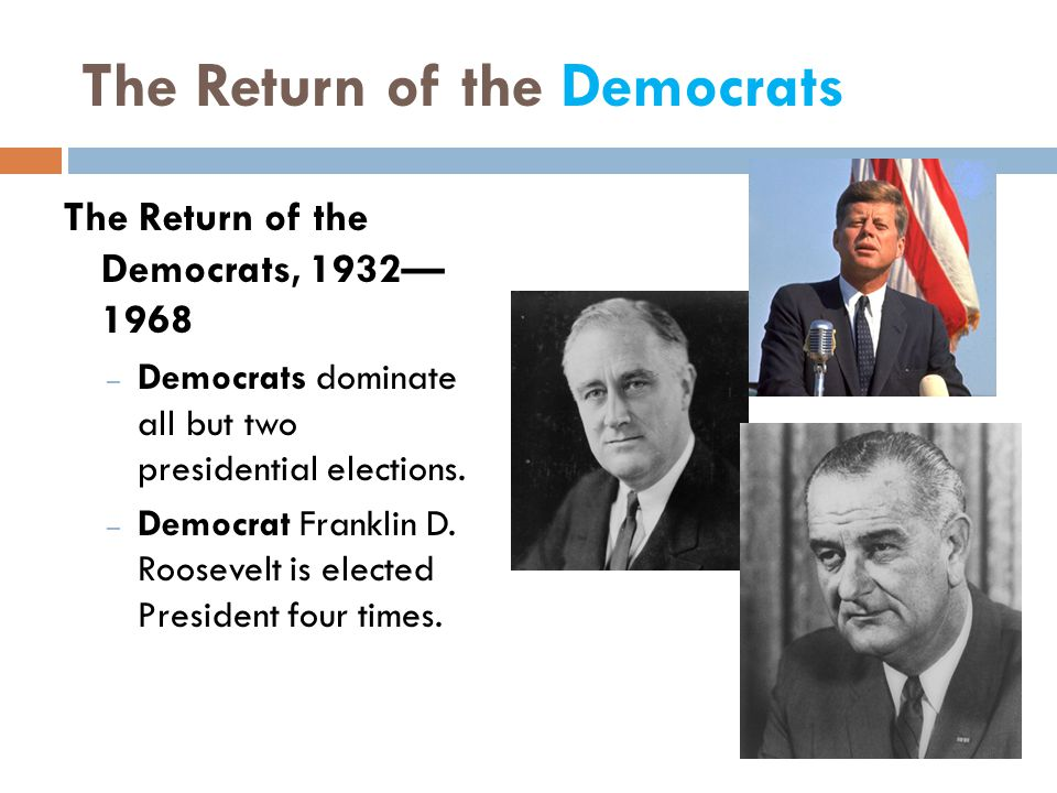 The Return of the Democrats