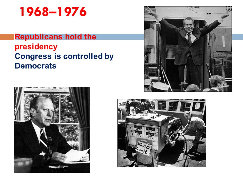 1968–1976 Republicans hold the presidency
