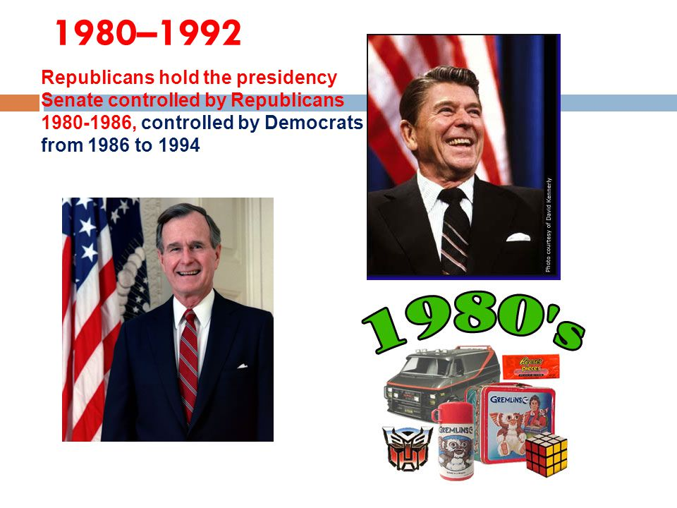 1980–1992 Republicans hold the presidency