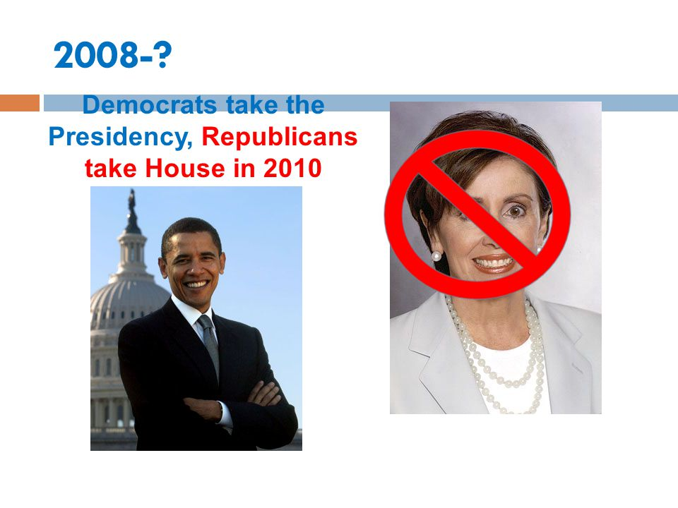 Democrats take the Presidency, Republicans take House in 2010