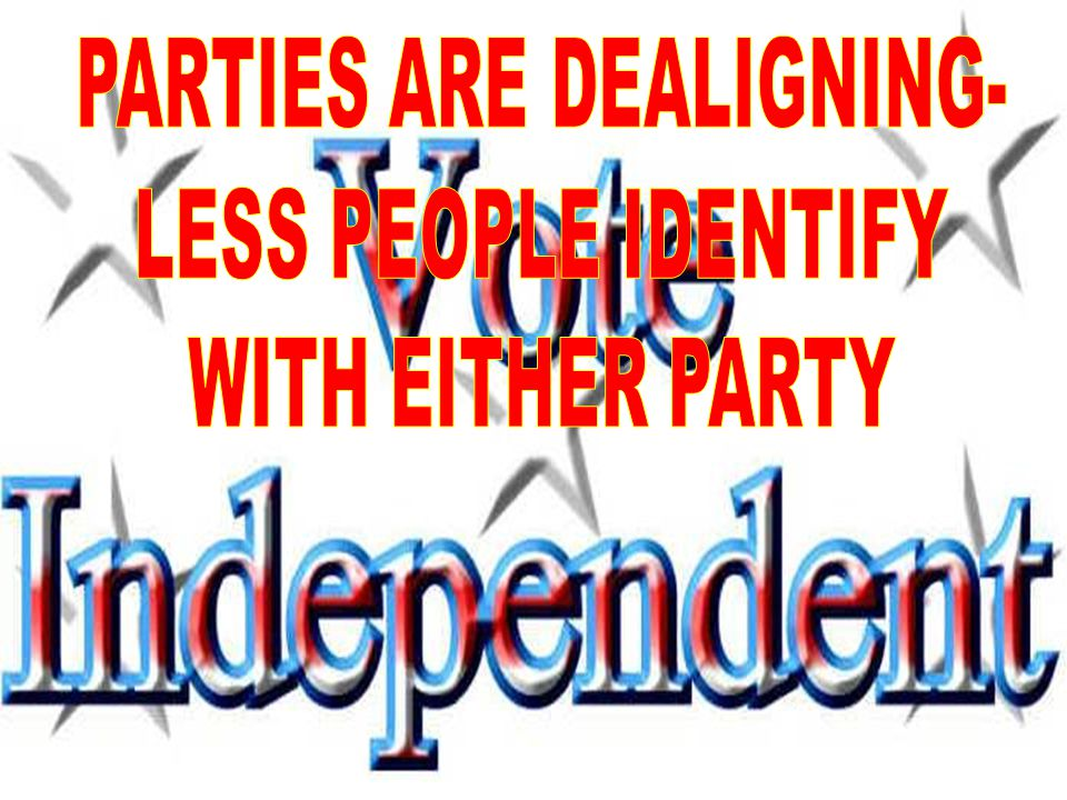 PARTIES ARE DEALIGNING-