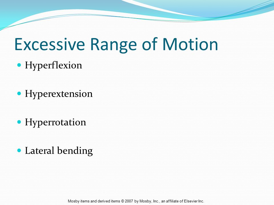 Excessive Range of Motion