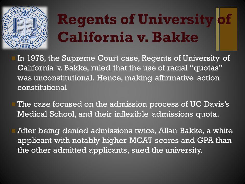 Regents of University of California v. Bakke
