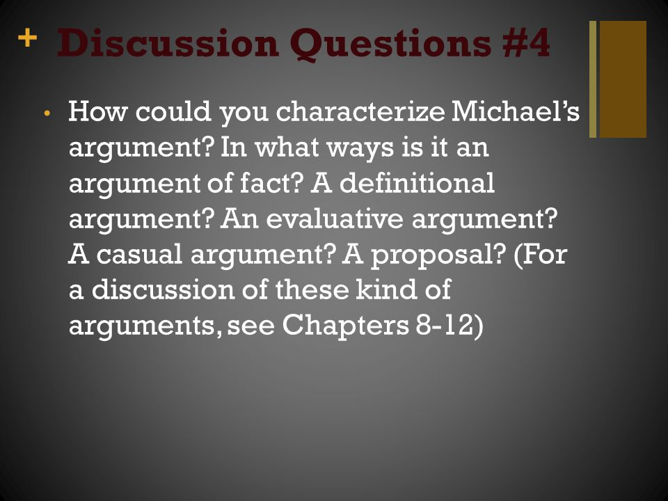 Discussion Questions #4