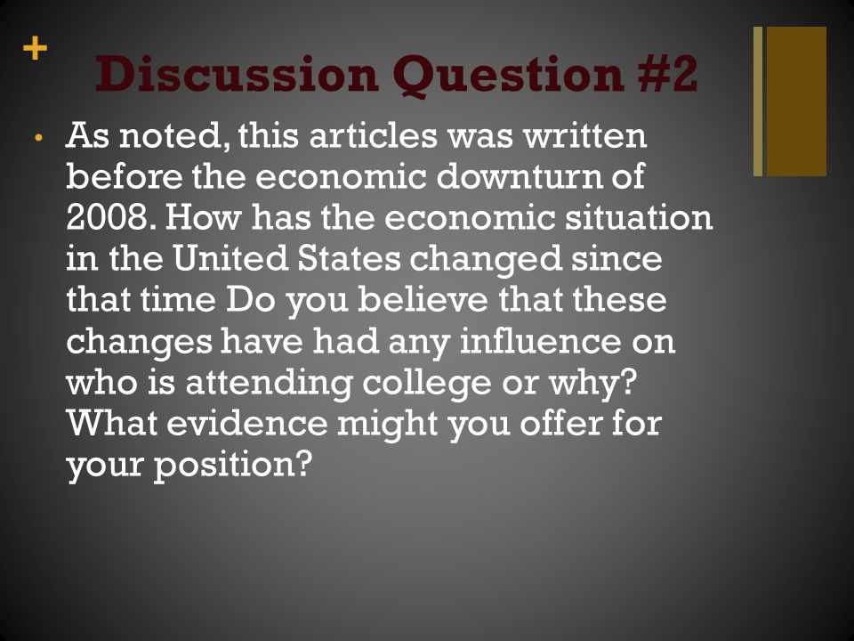 Discussion Question #2