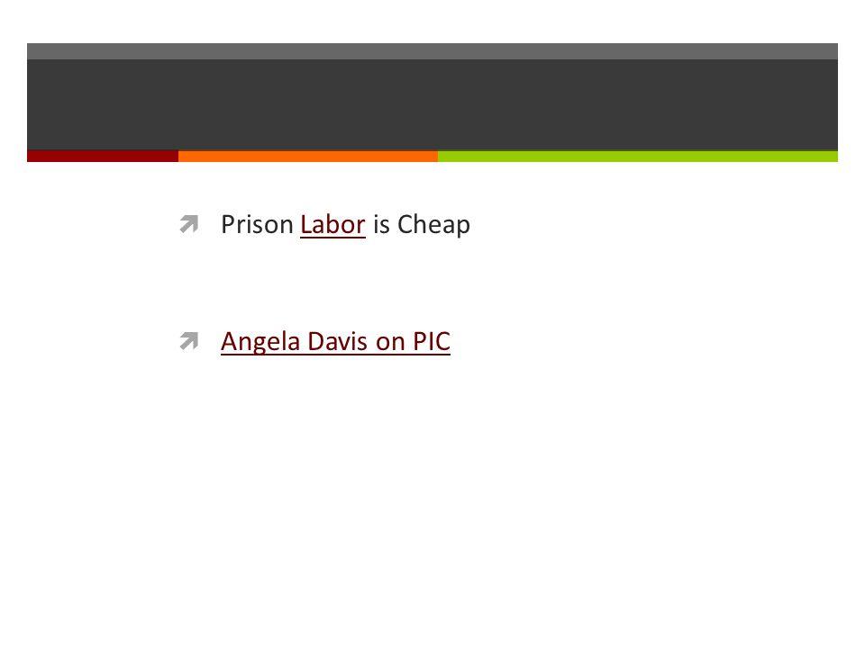 Prison Labor is Cheap Angela Davis on PIC