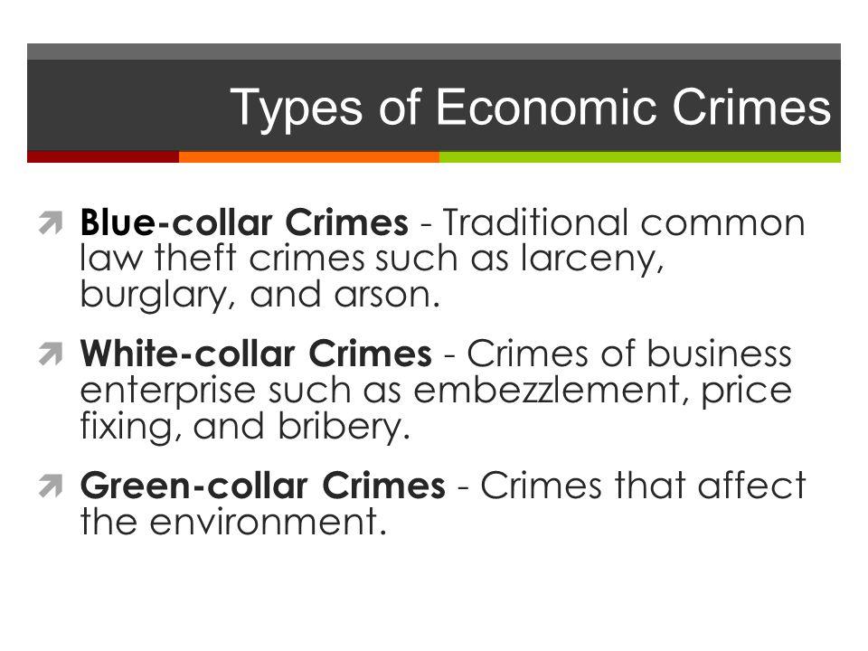 Types of Economic Crimes