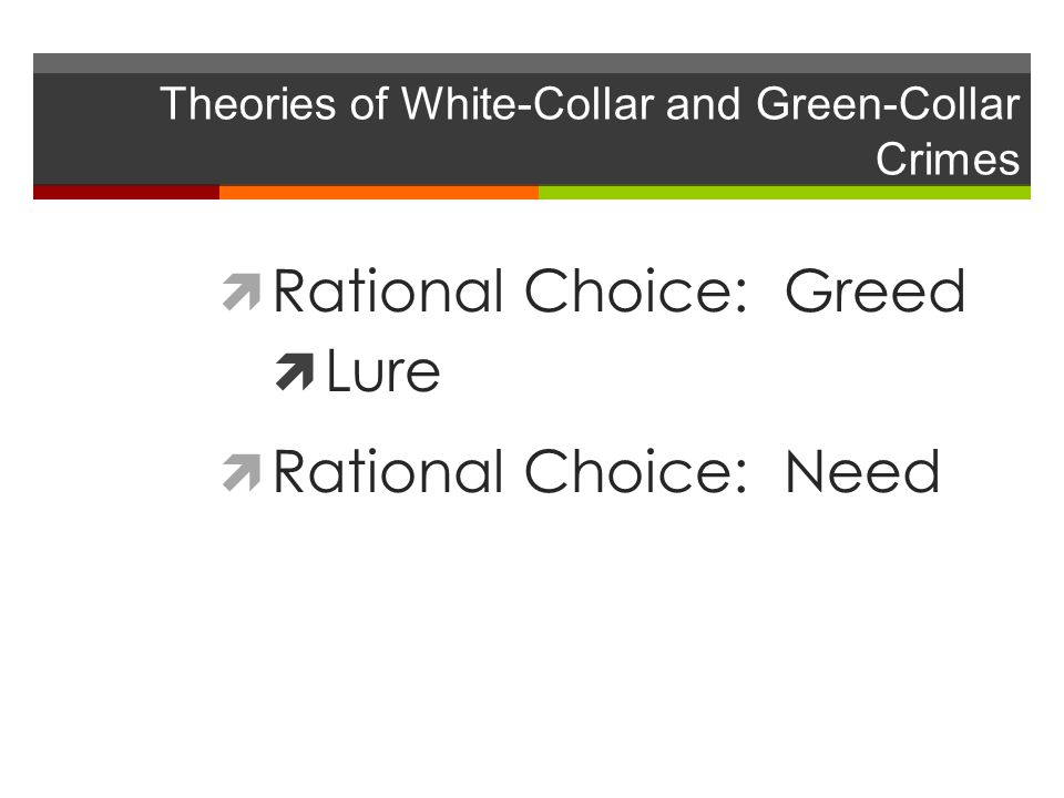 Theories of White-Collar and Green-Collar Crimes