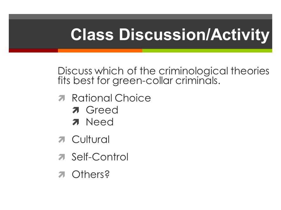 Class Discussion/Activity