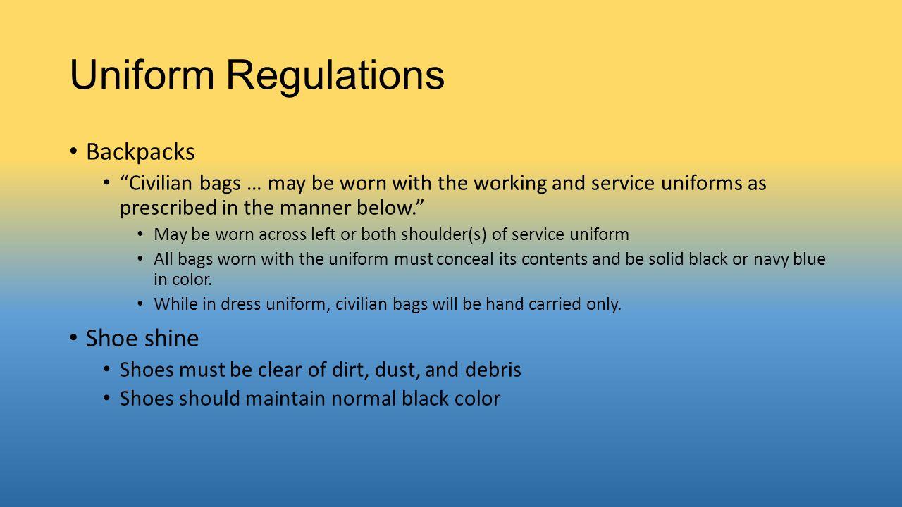 Uniform Regulations Backpacks Shoe shine
