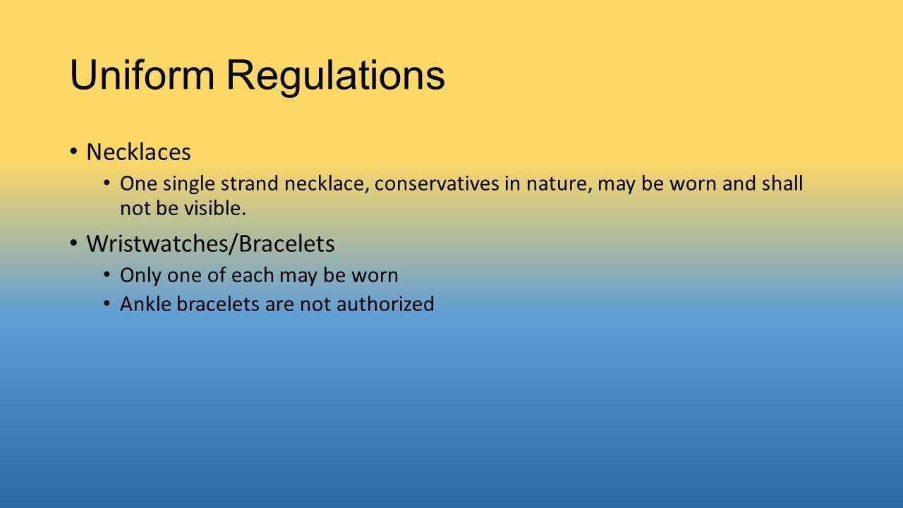 Uniform Regulations Necklaces Wristwatches/Bracelets