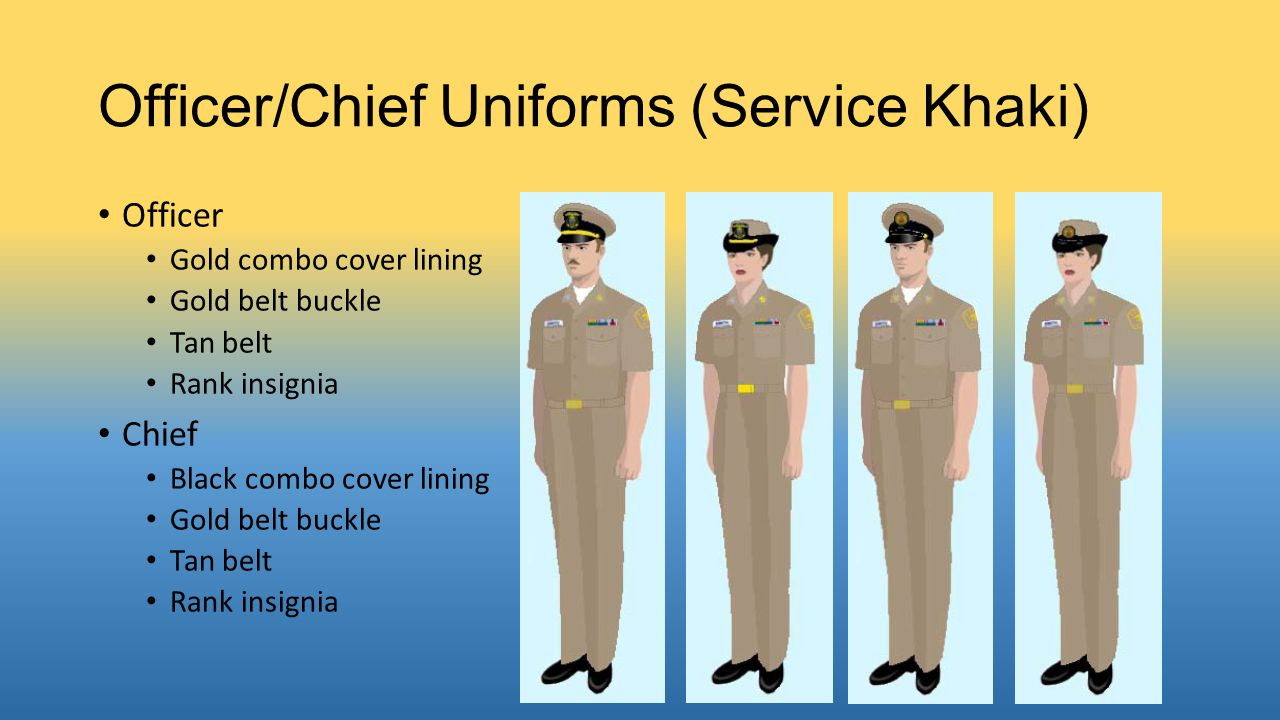 Officer/Chief Uniforms (Service Khaki)