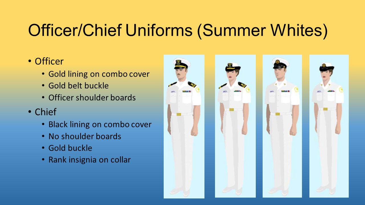 Officer/Chief Uniforms (Summer Whites)