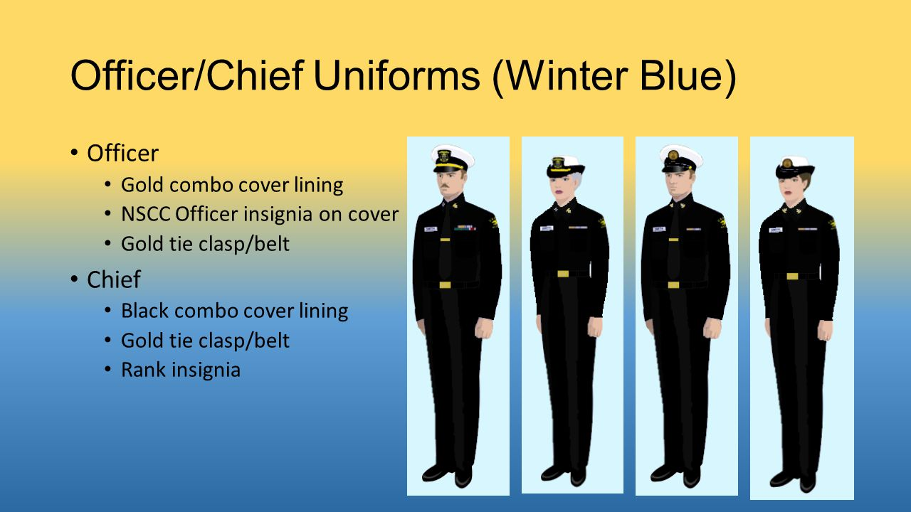 Officer/Chief Uniforms (Winter Blue)