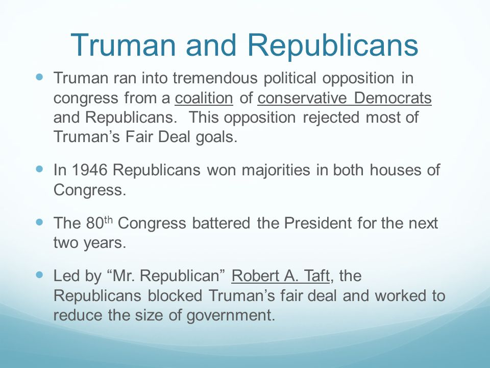Truman and Republicans