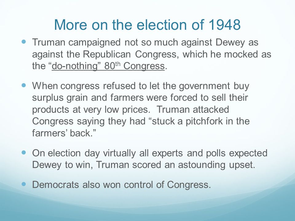 More on the election of 1948