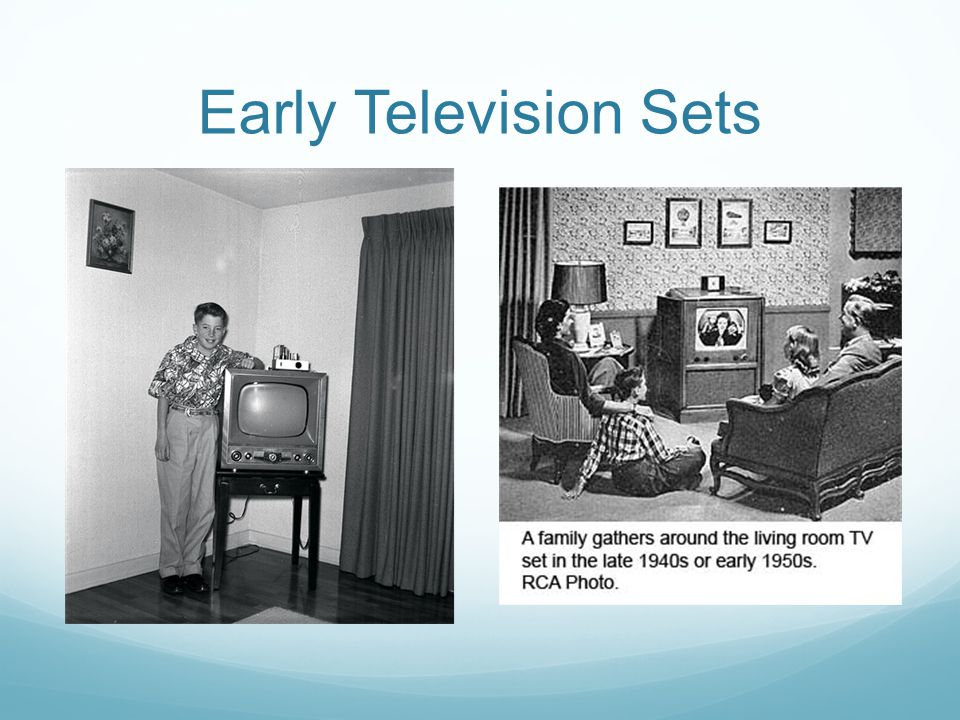 Early Television Sets