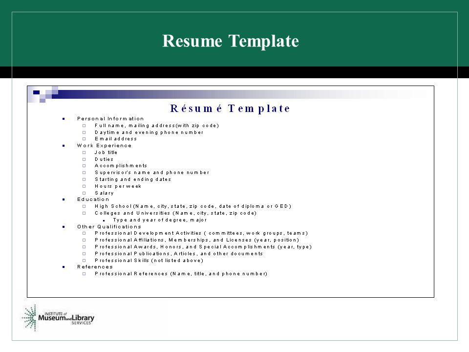 Resume Template SLIDE 23. HOW DOES THIS BENEFIT YOU (the applicant)