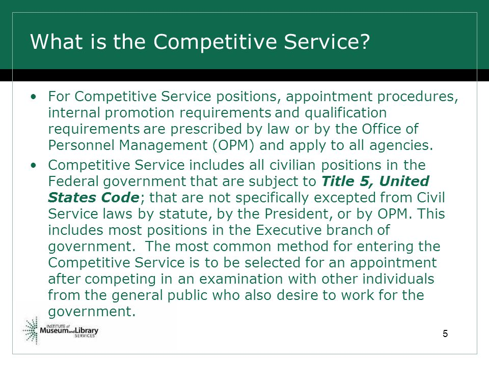 What is the Competitive Service