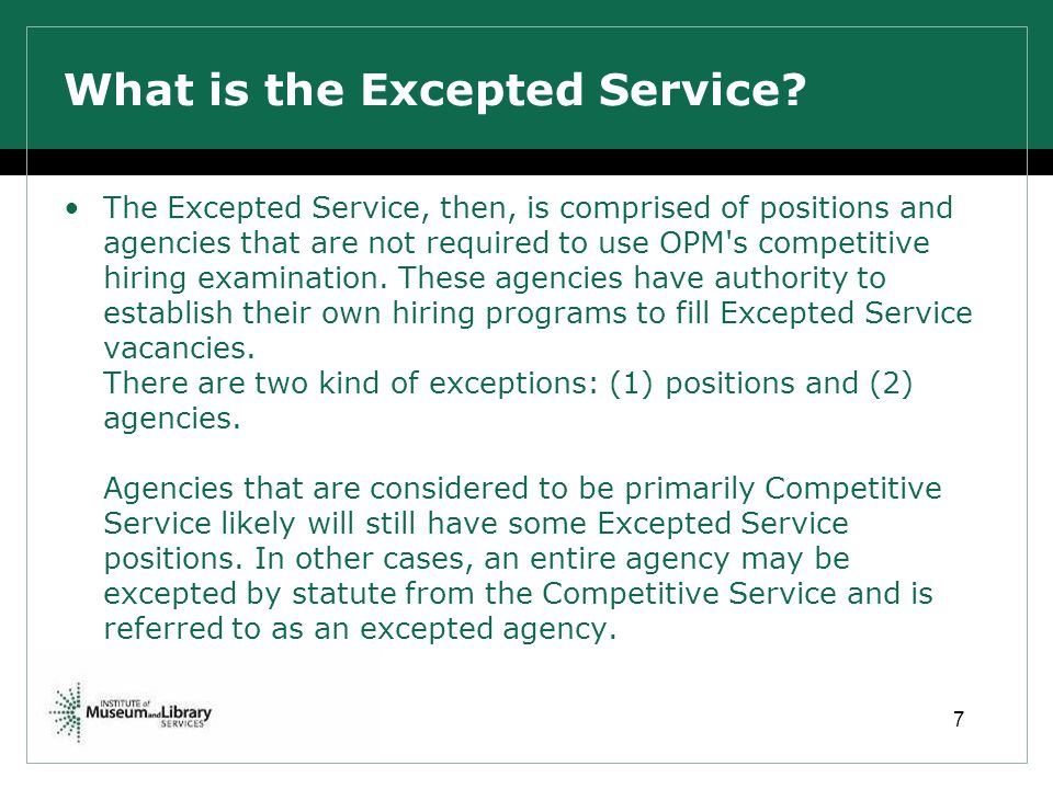 What is the Excepted Service