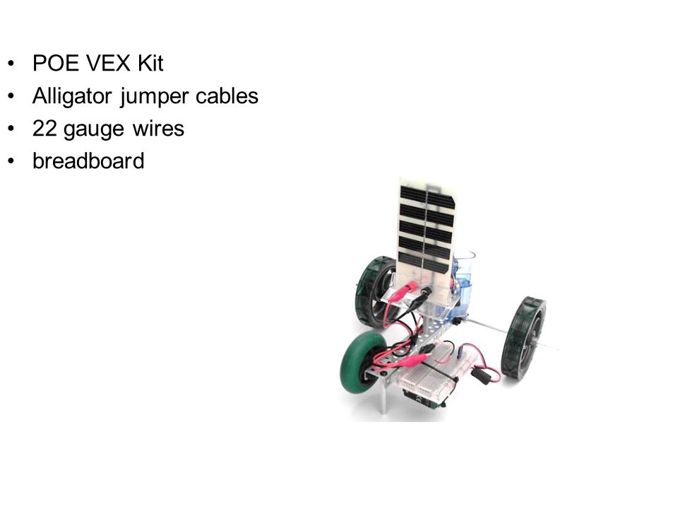 POE+VEX+Kit+Alligator+jumper+cables+22+gauge+wires+breadboard activity 1 3 1a solar hydrogen automobile assembly guide ppt  at gsmportal.co
