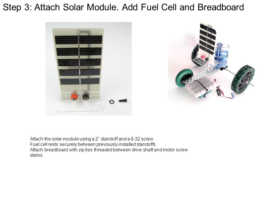 Step+3%3A+Attach+Solar+Module.+Add+Fuel+Cell+and+Breadboard activity 1 3 1a solar hydrogen automobile assembly guide ppt  at gsmportal.co