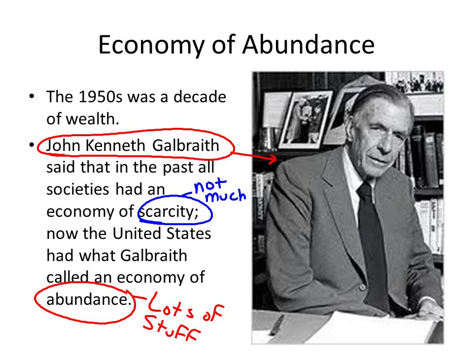 Economy of Abundance The 1950s was a decade of wealth.