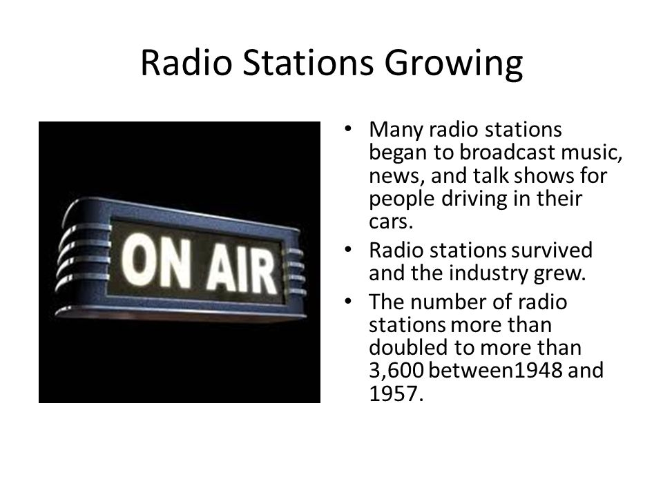 Radio Stations Growing