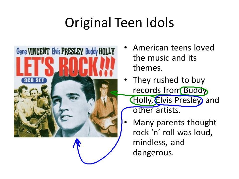Original Teen Idols American teens loved the music and its themes.
