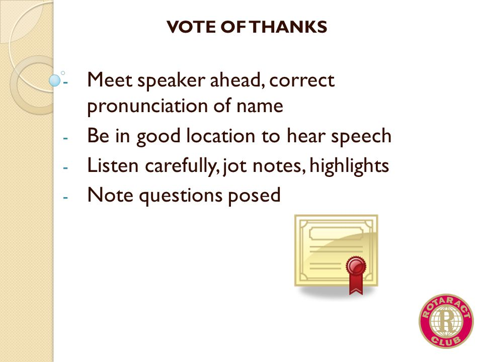 Meet speaker ahead, correct pronunciation of name