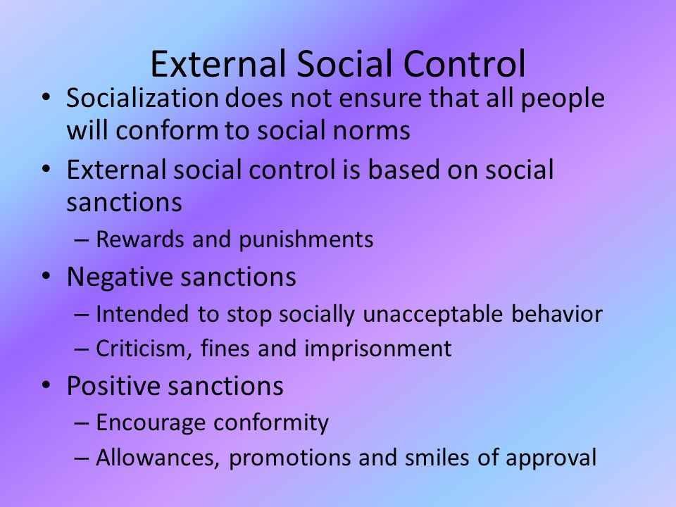 social norms conformity and deviance 1 chapter eight: deviance and social control chapter summary sociologists use the term deviance to refer to any violation of rules and norms.