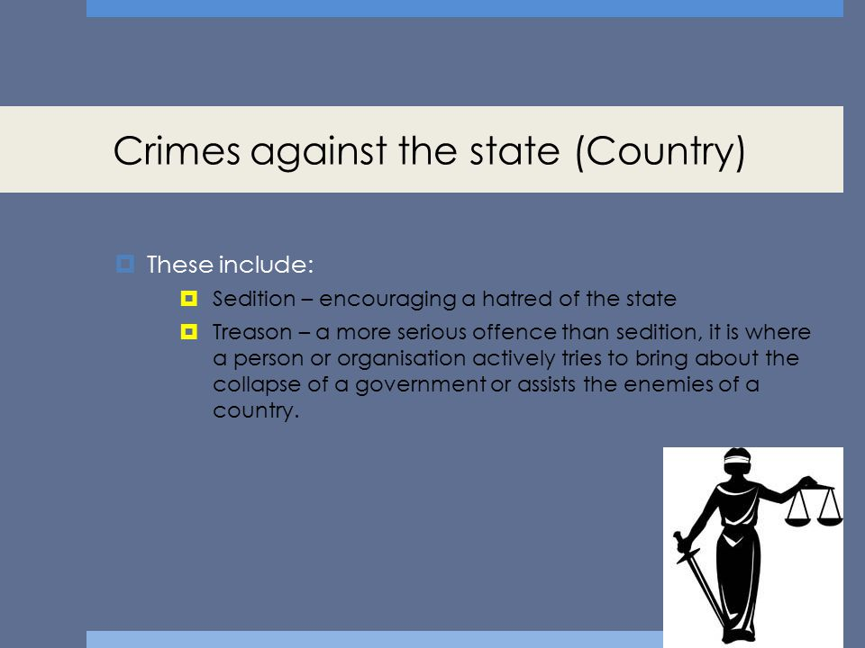 Crimes against the state (Country)
