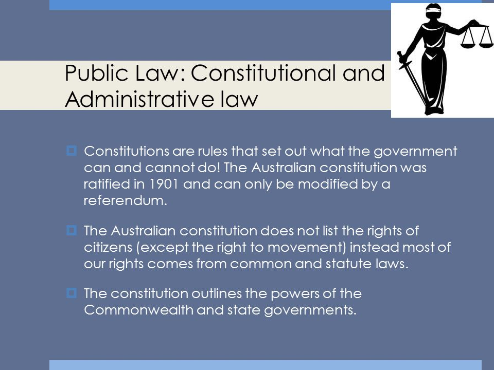 Public Law: Constitutional and Administrative law