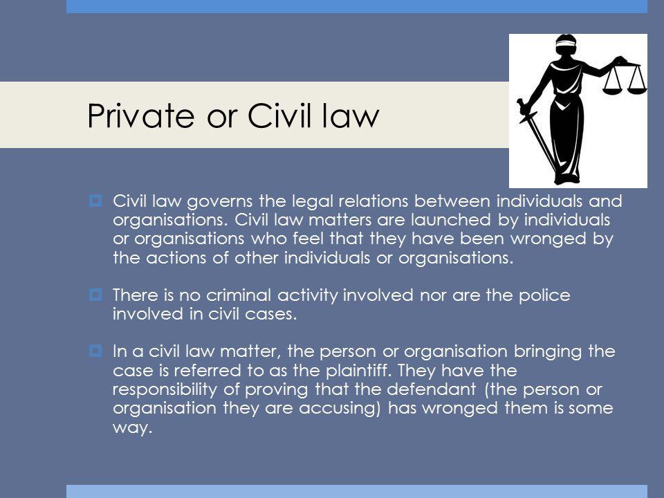 Private or Civil law