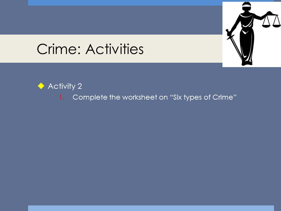 Crime: Activities Activity 2
