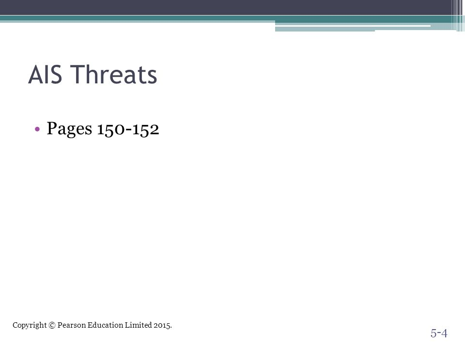 AIS Threats Pages 150-152.