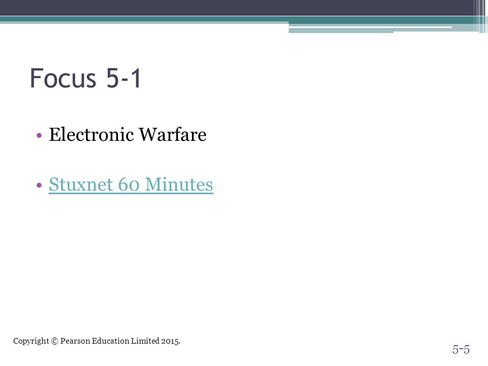 Focus 5-1 Electronic Warfare Stuxnet 60 Minutes