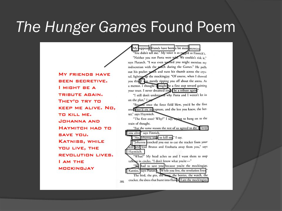 The Hunger Games Found Poem
