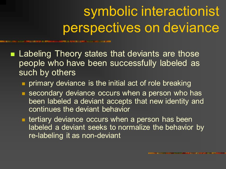 symbolic interactionist perspectives on deviance