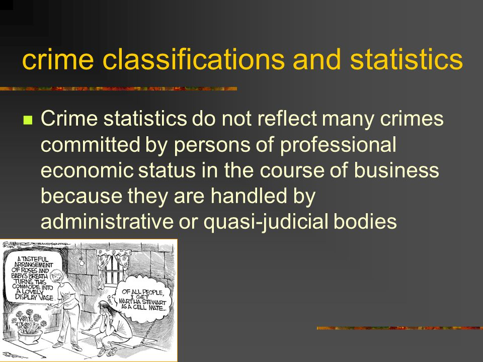 crime classifications and statistics