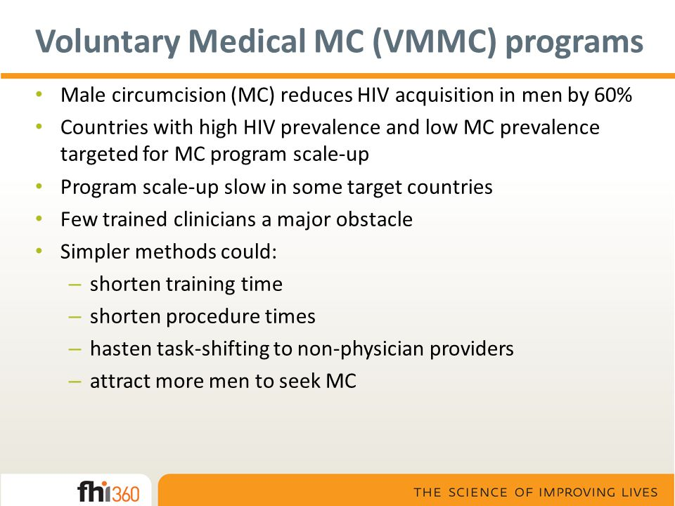 Voluntary Medical MC (VMMC) programs
