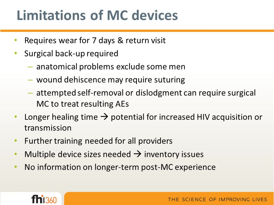 Limitations of MC devices