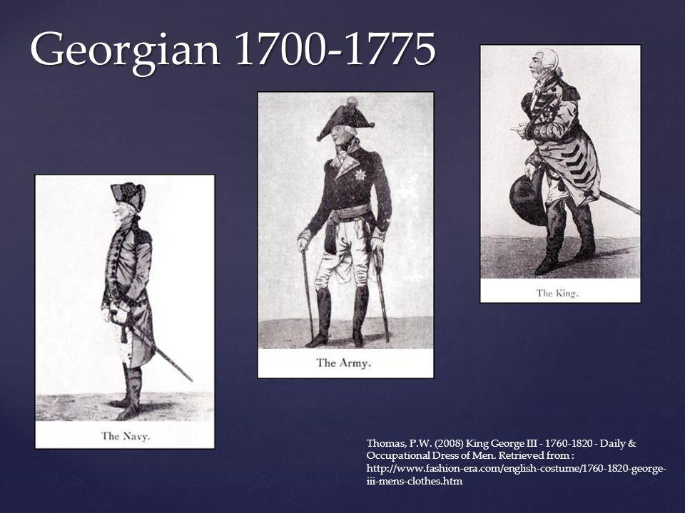 Georgian 1700-1775