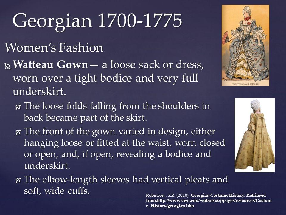 Georgian 1700-1775 Women's Fashion